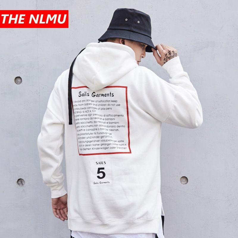 Hip Hop Streetwear Hoodie Sweatshirt Men Women 2018 Winter Fleece Hooded Pullover Mens Letter Print Fashion Hoodies White WE285