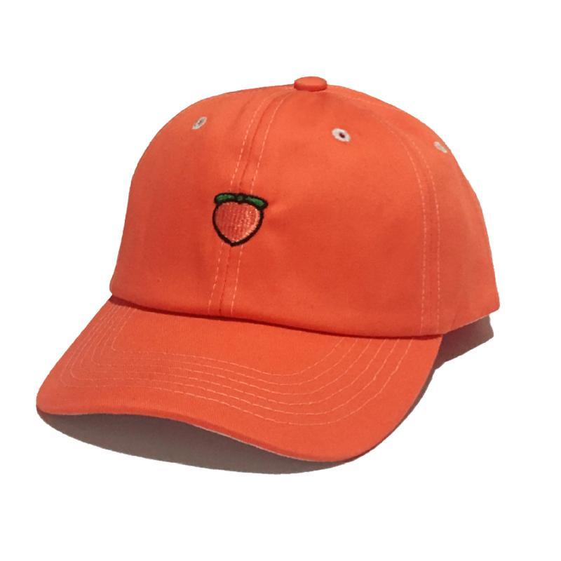 Brodé personnalisé Chapeau Fruit d'été Snapback Peach Broderie Adulte Enfants Baseball Chapeau Casquette ajustable Visor