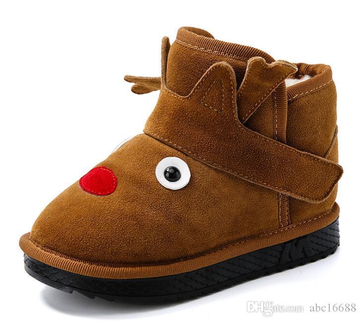Kinder Baumwolle Mädchen Dicke Großhandel Schneeschuhe Stiefel Warme Schuhe Wildleder Schnalle Jungen Winter Gefütterte Neue SUzqMVpGL