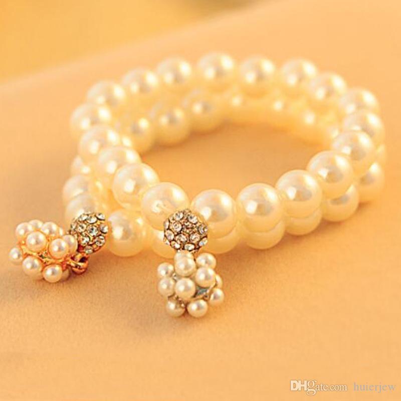 jolis bracelets de perles pour les femmes perles imitation perles Bracelets pour femmes Bijoux Bracelets boule