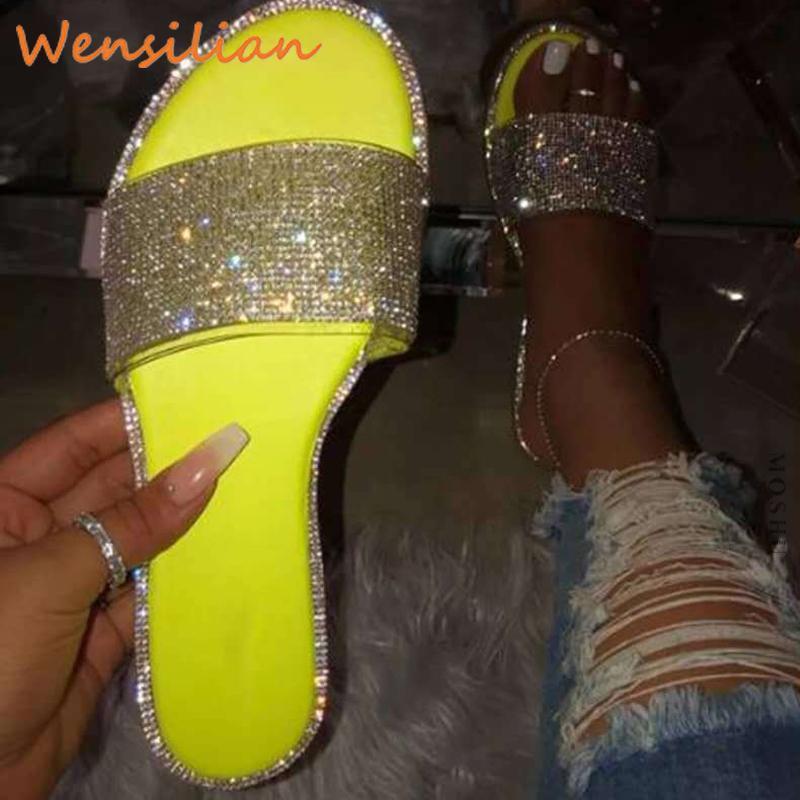 Sandali di estate delle donne 2020 scarpe da donna sandali piatti della spiaggia di modo strass scarpe Sandles Donne Sandali Mujer