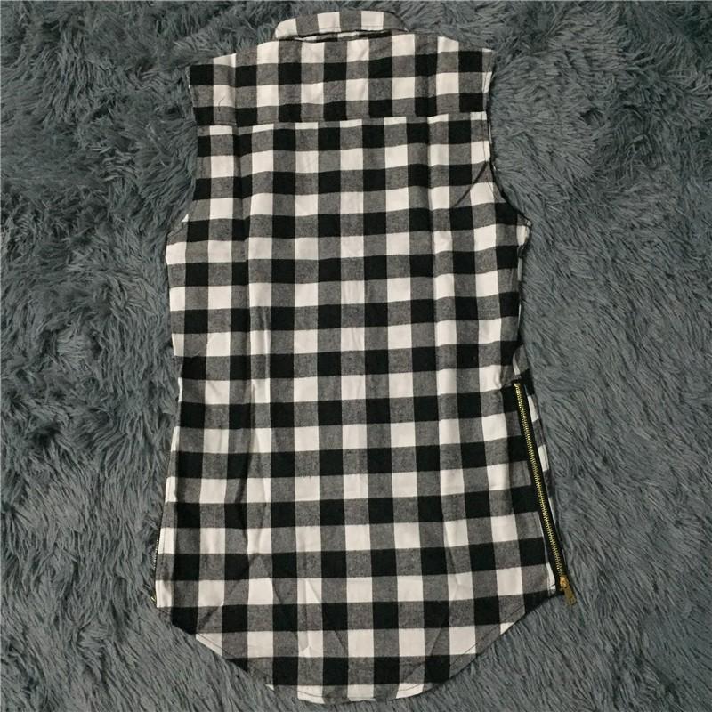Branco Red Plaid Xxxl Longo Voltar Zipper Streetwear Ganhos homem de Hip Hop Skate Tyga T -shirt T Shirt Top Tees Men roupas de qualidade
