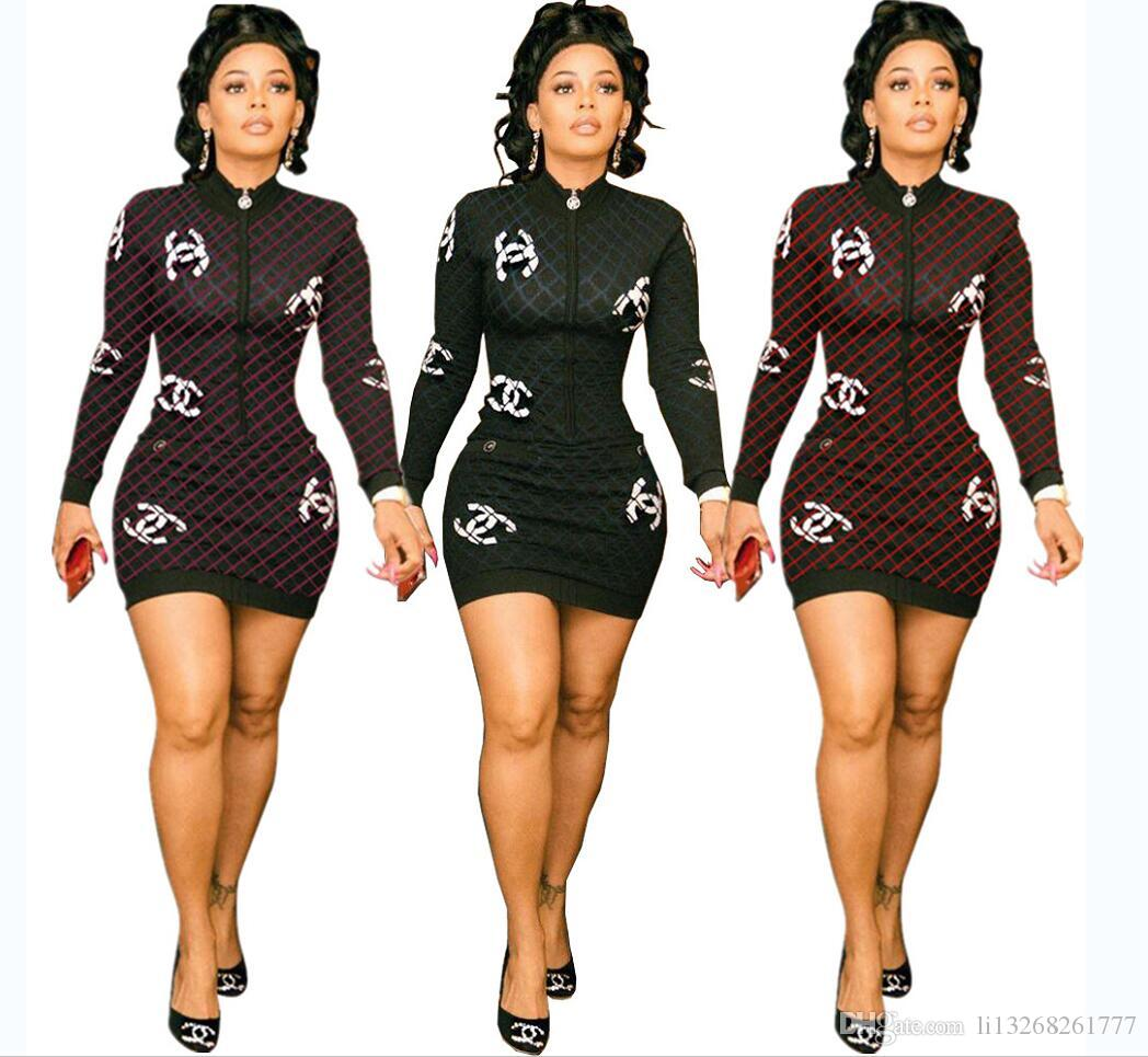Lattice bodycon dress Women Printing New bandage crew Neck Long Sleeve Slim casual Knee length dress stylish Party Dresses Mini dress S-XL