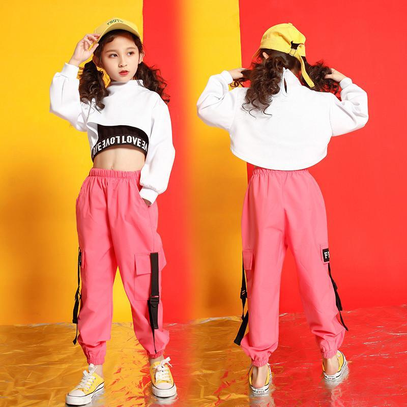 Filles boutique tenues 4 6 8 10 123 14 16 18 Ans hip enfants de hoodies hop costumes filles enfants vêtements d'été Y200325