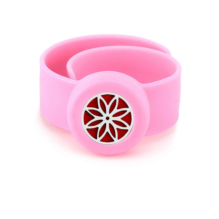 Flower Charm Bracelet Kid Silicone Slap Bracelets Essential Oils Diffuser Wristband Anti-Mosquito Bracelets & Bangles For Kids