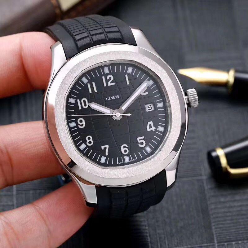 2020 nuevos relojes de pulsera aceros inoxidables movimiento automático cómoda correa de goma de los hombres luminosos broche original de Super relojes