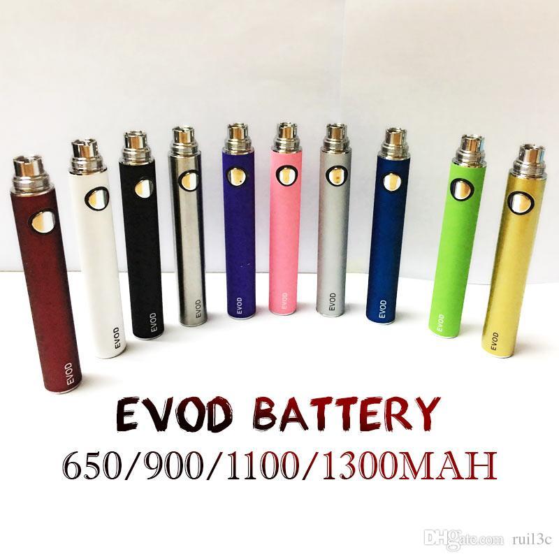 New EVOD battery for electronic cigarette 650~1300 mAh 510 Thread for all series eGo vape pen Kit match MT3 CE4 CE5