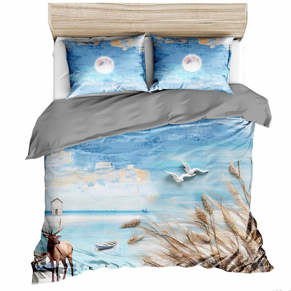 Urban Scenery 3D Bedding 3pcs Increased Bedding Cover and Pillow Cover bedding set cotton king size comforter set 2.0M5464564