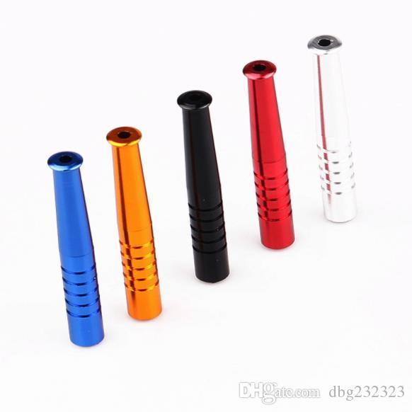 Un nuevo tubo de metal portátil con un pequeño tubo de béisbol de aleación de aluminio de 52 mm