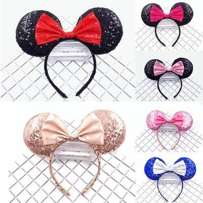 Europeo e AmericanFull sequined orecchie Accessori mouse fascia paillettes arco dei capelli dei bambini Carta di capelli di alta qualità
