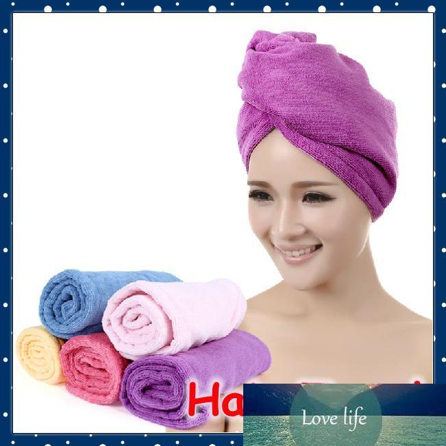 Wholesale-[FORREST SHOP] High Quality Microfibre Lady's Magic Hair Drying Towel Hat (5 pieces/lot) FRH-91