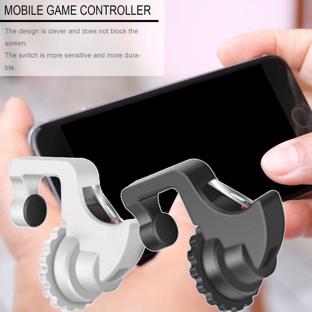 Botão 1pair Gamepad Joystick Para PUBG Joypad gatilho fogo Aim L1 R1 Key L1R1 Shooter Controlador Para PUBG Mobile Phone Game Pad