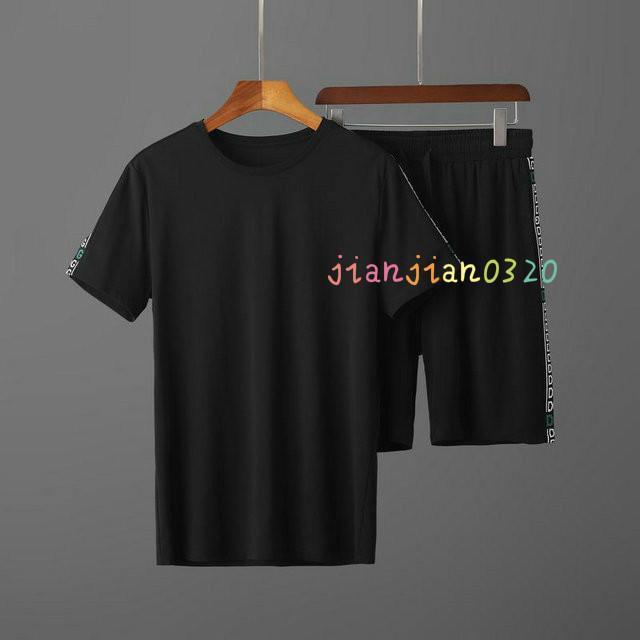La alta calidad del desgaste de 2020 deportes de los hombres ocasional del juego de dos piezas de ropa deportiva de alta gama tendencia de la moda 02248