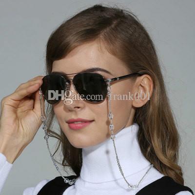 패션 세련된 여자 선글라스 체인 흰색 착용 목 지주 페르시 매는 밧줄 코드 액세서리 로프 넥 스트랩 페르시 매는 밧줄