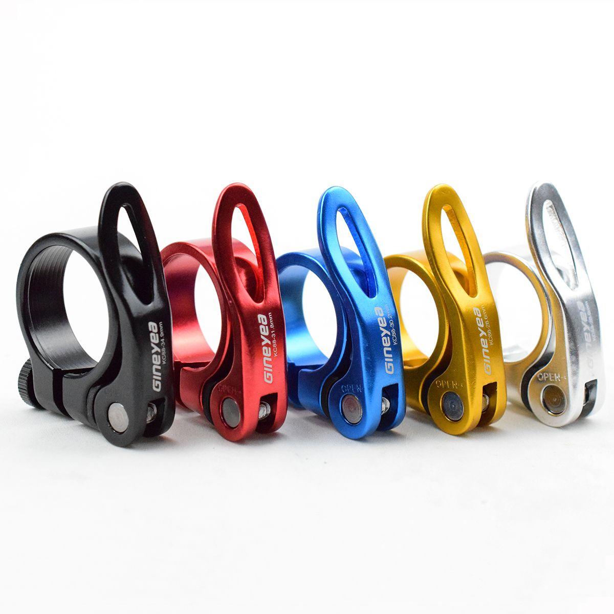 Schnellspanner Sattelklemme Alloy QR-Fahrrad-Sattel Rohrschellen 28,6 / 30,2 / 31,8 / 34,9 mm Straße MTB Fahrrad Sattleklemme