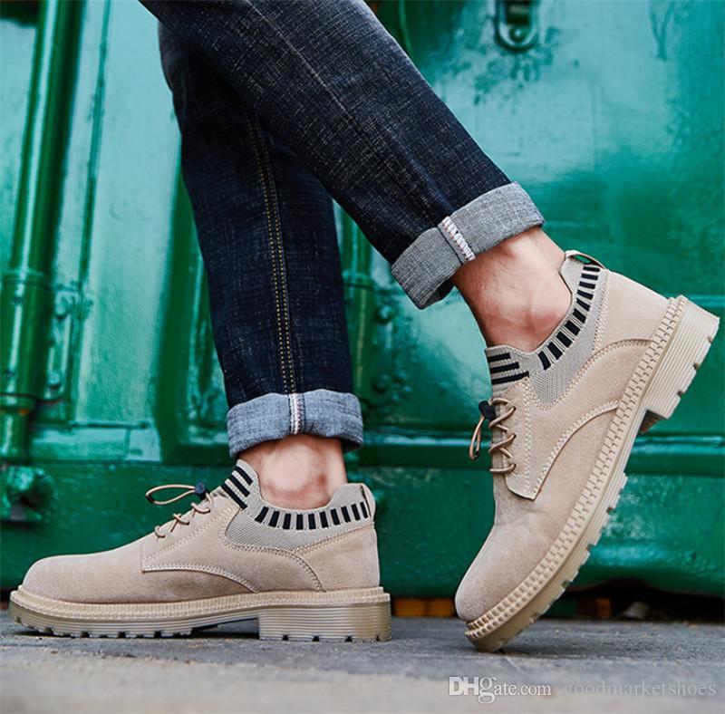 Top 2020 Outono e Inverno New Martin Botas Homens Algodão Plus Velvet Botas Quentes Rebite Homens Sapatos