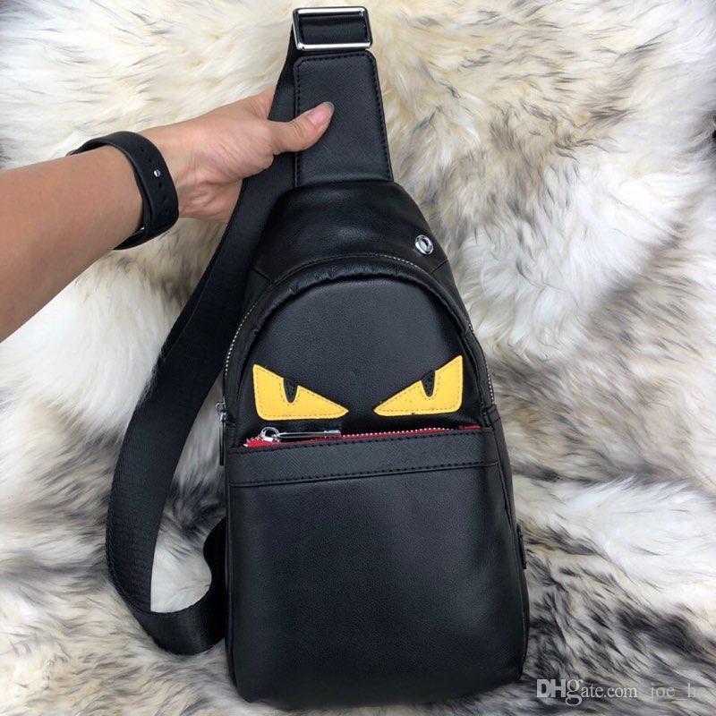Designer-lusso della borsa della borsa borsa occhi mostro tasca uomo della pelle di alta qualità Fannypack F borse bag