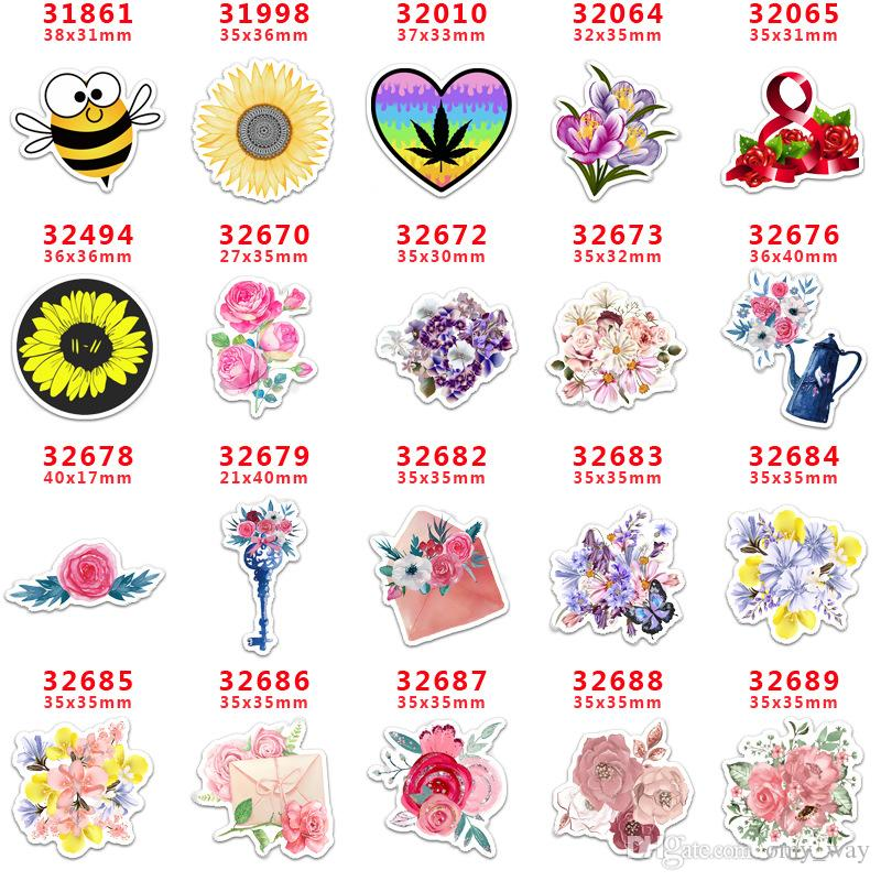 60pcs/lot PR31861 Flower Resins Cartoon Flatback for Hair Bows Hair Accessories Planar Resin Crafts DIY Decorations
