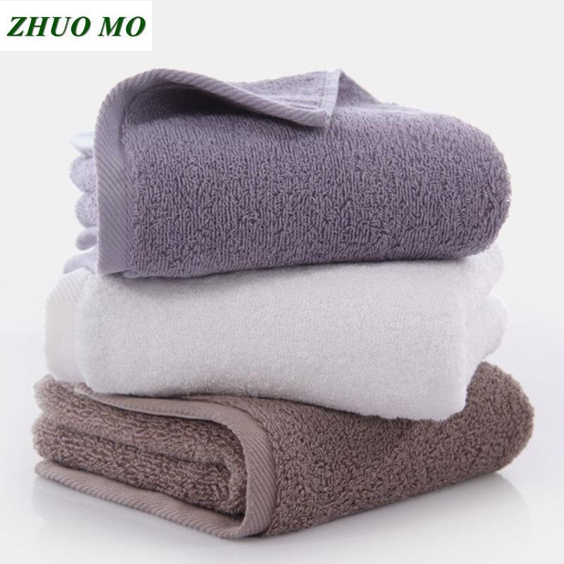 34 * 76 см полотенце для лица для взрослых махровых полотенец ванной листа подарка душа абсорбирующих мужчин женщин 4 цвета египетского хлопок полотенце