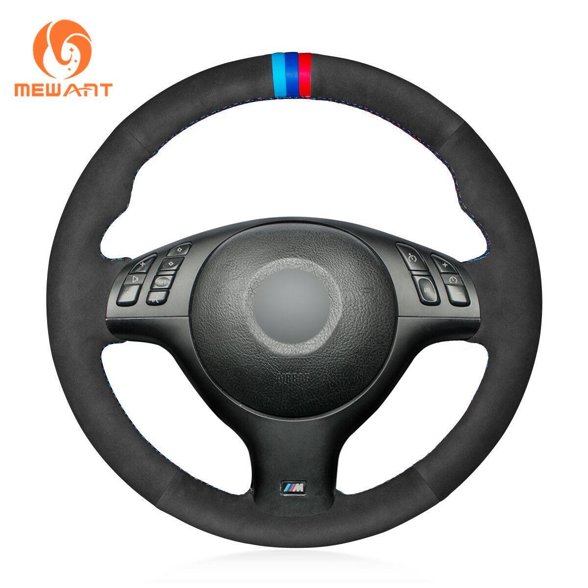Diy Suede Steering Wheel Cover for BMW E46 E39 330i 520i 520i 530i 330Ci M3 # BM133