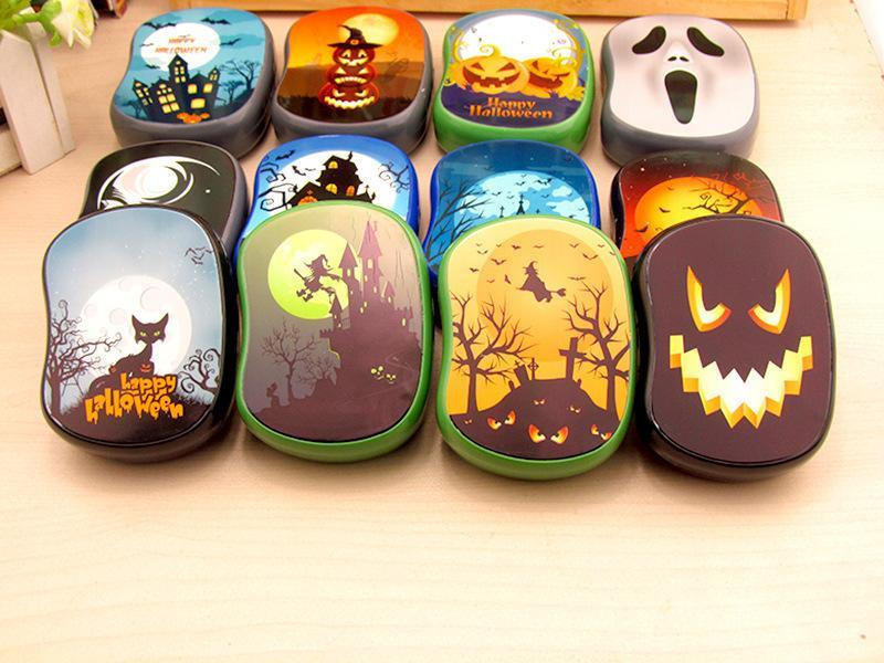 New High Quality Contact Lens Case 10pcs Mix Cute Halloween Pattern Companion Box Beauty Pupil Box Care Box 6.5cm *9cm* 2.5cm