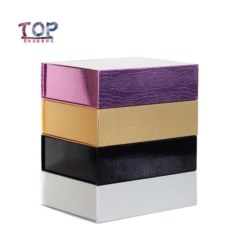 10Pcs / Lot di alta qualità Parrucche Gift Box Box Folding rigida chiusura magnetica Disponibile Packaging