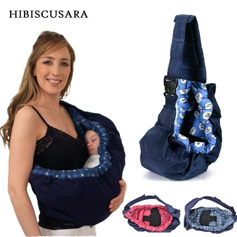 Bebé recién nacido portador de empañar la honda del lactante Papoose bolsa delantera Carry Wrap puro algodón Amamantar Alimentación bolsa de transporte