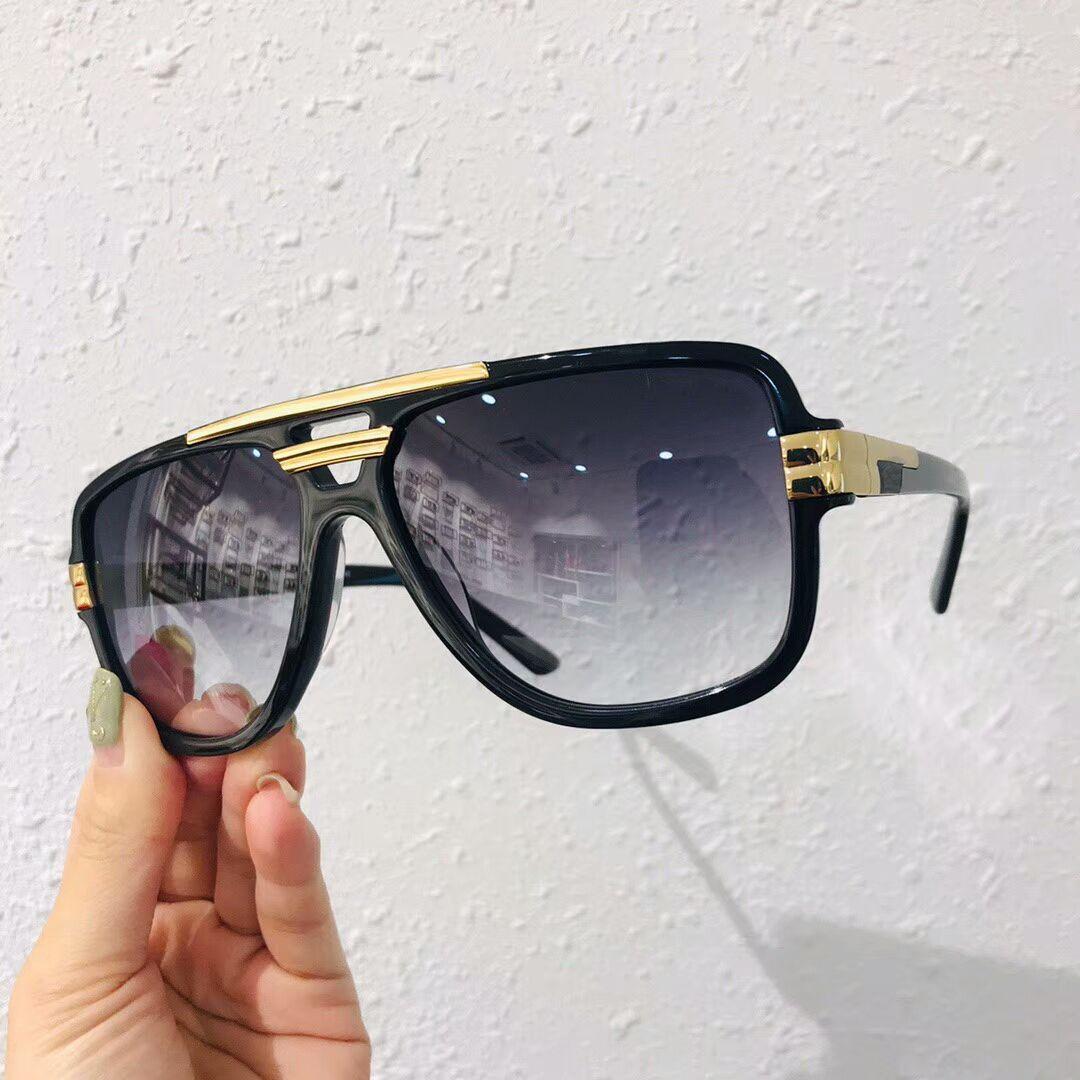 Efsaneler kutulu 8037 Black Gold Plastik Pilot Güneş Gri Degrade Mercek Erkek Güneş Gözlüğü Güneş Gözlük Gözlük UV Koruma Yeni