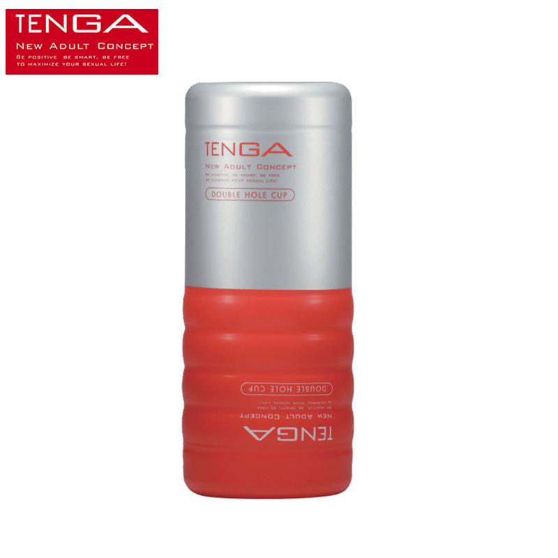 Tenga Double Hole Cup Simulated Vagina Masturbators Cup Suck Realistic Pussy Vigina Anus Sex Toy Shop Product For Men C19022101