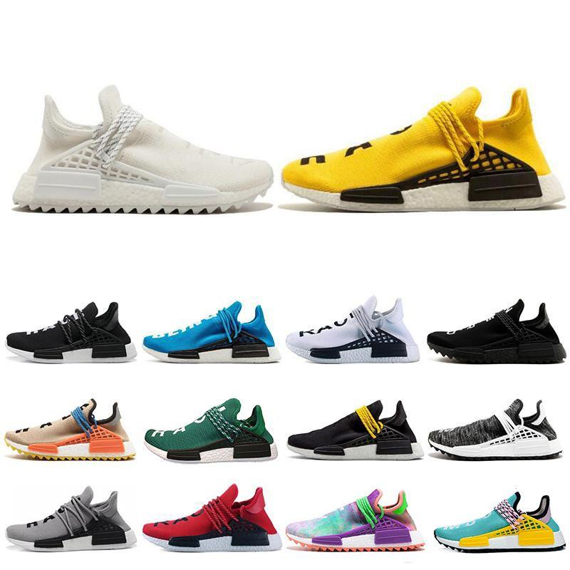 Adidas Human Race R1 R2 Nmd x Chanel Colette erkekler Kadınlar Pharrell Williams Sarı asil mürekkep çekirdek Siyah Kırmızı beyaz spor ayakkabıları Eur 36-47