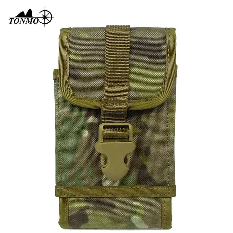 "Molle Tactical Mobile Phone Phone Pouch Case Waist Pack For 5.5"" 6"" Smart Phones With Slim Case"