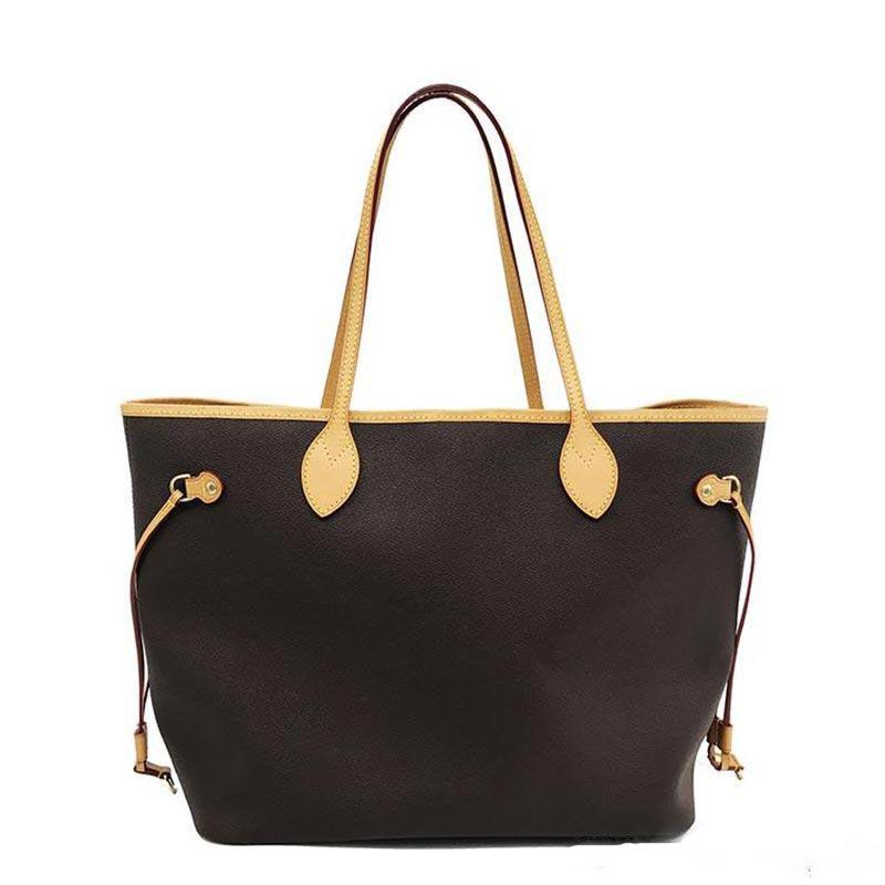 Hot Vintage Klassische Frauen Tote 2 Stück Einkaufstasche Mode High-end Umhängetasche Leder Clutch Bag Wallet kostenloser Versand 40156
