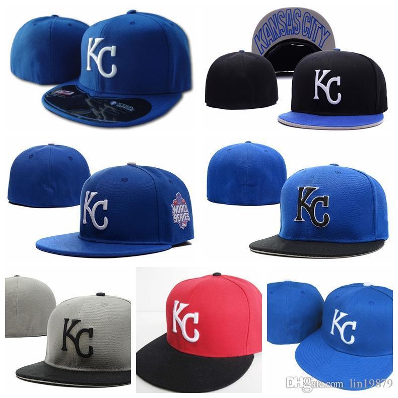 Royals KC carta Bonés de beisebol gorras carta ossos esportes dos homens de moda ao ar livre chapéu de sol cabidos Chapéus