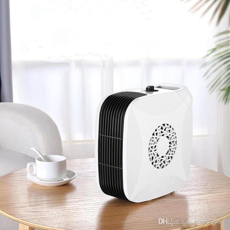 Vendedor caliente de 700W 220V Mini calentador eléctrico del ventilador de bajo ruido del ventilador de aire caliente Ministerio del Interior de escritorio suelo blanco envío