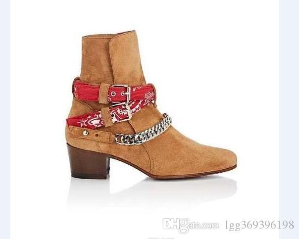 Harry rivetti waytt moda catena Persional stivali in vera pelle fibbia della cintura cinturino cowboy ovest personalizzato avvio denim