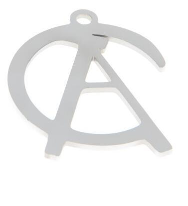 5pcs//lot Anarcho Collectivism charm anarcho anarchy cross Charm pendant 27x22mm