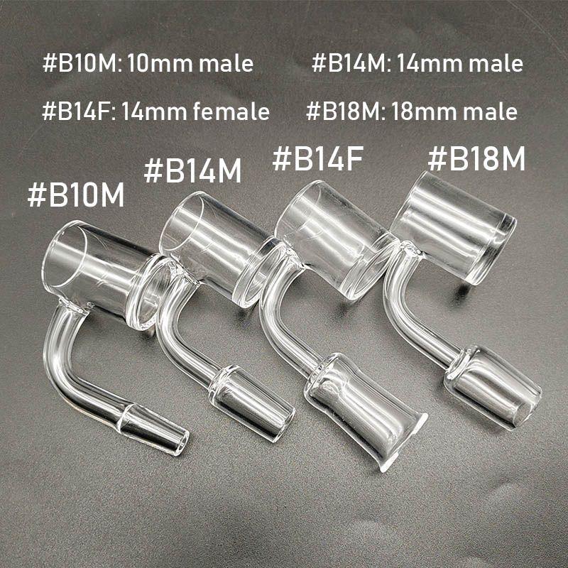 DHL доставка кварц фейерверк женский мужской 10/14/18 мм 90 градусов 4 мм толщиной кварцевый гвоздь для стекла Бонг