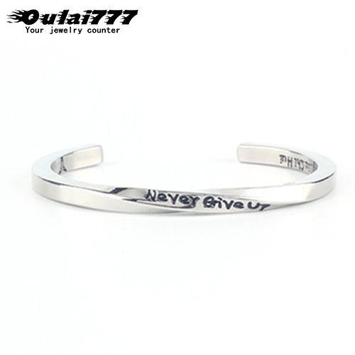 oulai777 pulseiras de prata mens pulseiras Abertura de aço inoxidável presentes charme retro masculino Acessórios hip hop moda pulseira 2020