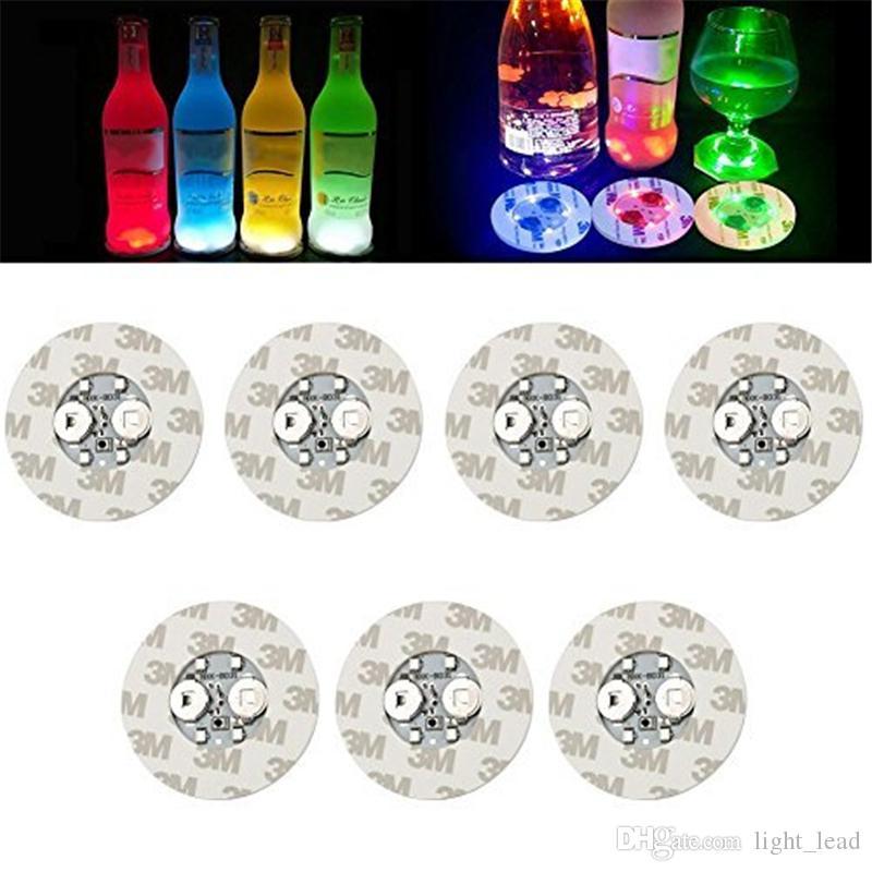 6 cm LED Şişe Çıkartmaları Boasters Işık 4LEDS 3 M Etiket Yanıp Sönen LED Işıklar için Tatil Parti Bar Ev Partisi Kullanımı