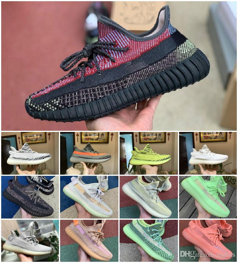 2019 Original Static Clay Sports Shoes Cheap Belgua 2.0 Semi Frozen Yellow Men Women Trainer 3M Yecheil Reflective Inertia True Form Sneaker