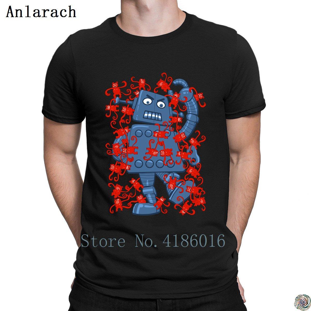 Maymunlar VS Robot erkekler için boyut S-3XL Boş Tasarım Tee üst t shirt tişörtleri aile 2018 erkek Yeni Stil