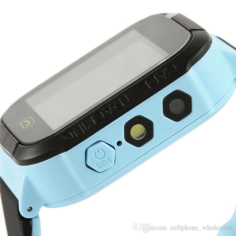 Y21S GPS Kinder Smart Watch-Anti-verlorene Taschenlampe Baby-Smart-Armbanduhr SOS Anruf Ort Gerät Tracker Kid Safe Armband für alle kompatiblen