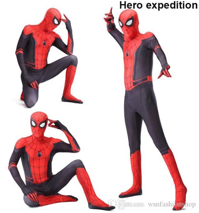 2019 El traje de Spiderman Amazing 3D película original de Todos los Santos Cosplay Spiderman adultos traje traje Zentai venta del envío de