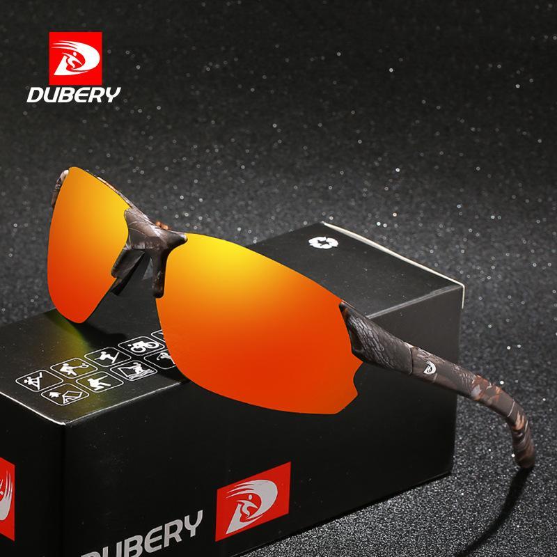 DUBERY672 الأوروبية الجديدة وأمريكا الرياضة ركوب الدراجات الإستقطاب النظارات الشمسية مربع ليلة في الهواء الطلق الرؤية نظارات شمسية رجالية