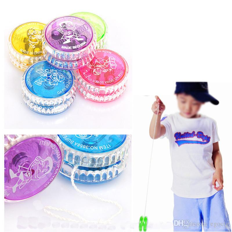 LED Light up Finger Spinning Toys for Kids YOYO Professional Colorful youyou Ball LED Trick Ball Toy for Kids Adult Novelty Games Gifts