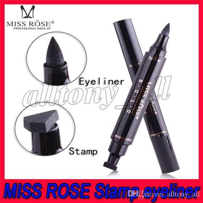 Hot Mlle Rose Stamp Eyeliner Seal Crayon Maquillage des yeux Outil professionnel Têtes double Deux têtes Eyeliner Pen