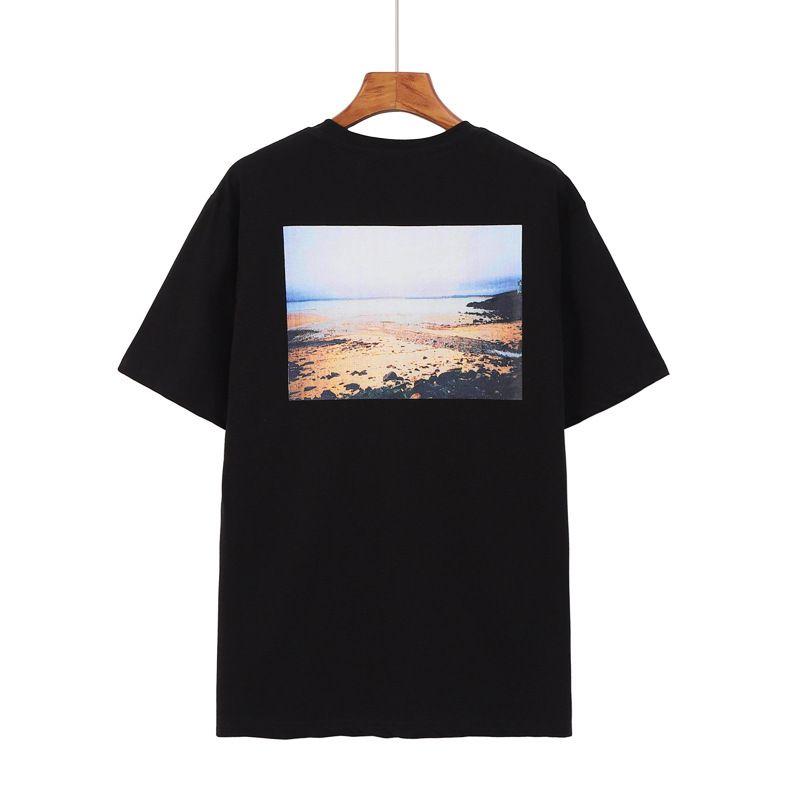 Coton Summer Mode Femmes Casual T-shirts Hop Sunset Sunrise Impression Tops Streetwear Essentials Tees HIP Pull Homme Oclnn