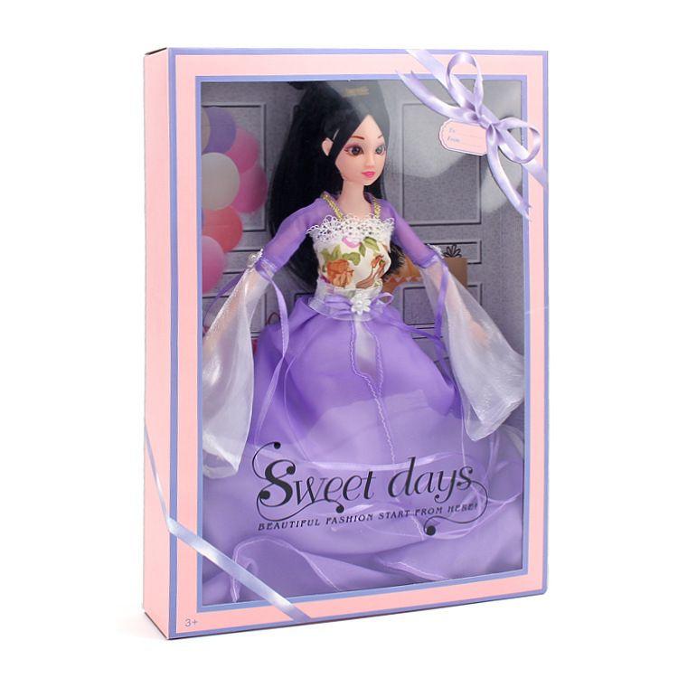 Barbie Doll China Traje Antiguo Una Muñeca Violeta Ropa Accesorios Una Muñeca Caja de Regalo Chica Casa Juguetes Al Por Mayor