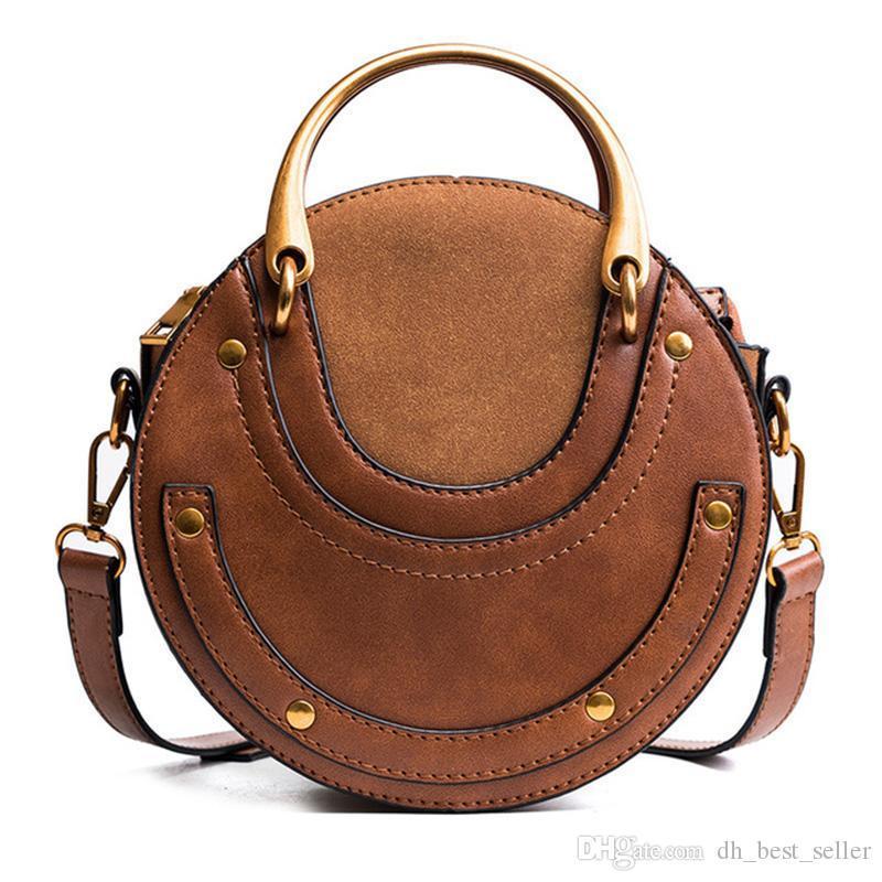 Ronda de las mujeres mini bolso bolsos del diseñador de moda friega la bolsa de mensajero Single Ladies teléfono celular bolsos de hombro del monedero del bolso