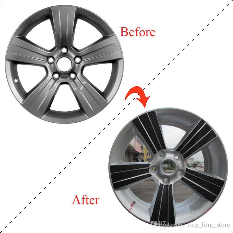 """SUNFADA 17 """" колеса углеродного волокна виниловые наклейки для DODGE калибра 2011 для JEEP COMPASS PATRIOT 2011-2015 колеса наклейки"""